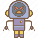 avatars, bot, droid, ouch, robot icon