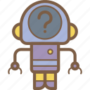 avatars, bot, droid, question, robot