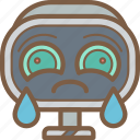 avatars, bot, cry, droid, robot icon