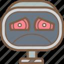 avatars, bot, droid, robot, sad icon