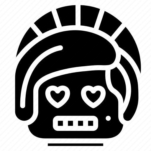 avatars, bot, droid, lady, love, robot icon