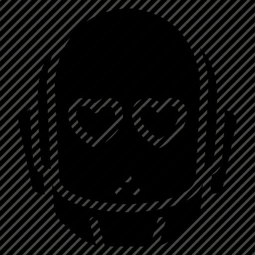 avatars, bot, droid, love, robot icon