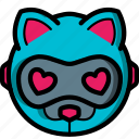 avatars, bot, cat, droid, robot icon
