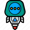 avatars, droid, robot, thinking icon