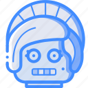 avatars, bot, droid, lady, robot icon