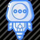 avatars, droid, robot, thinking icon