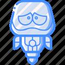 avatars, bot, droid, robot, upset icon
