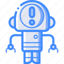 alert, avatars, bot, droid, robot icon