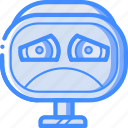 avatars, bot, droid, robot, sad