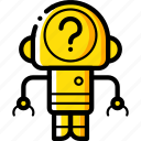 avatars, bot, droid, question, robot icon