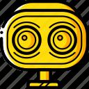 avatars, awake, bot, droid, robot, wide icon