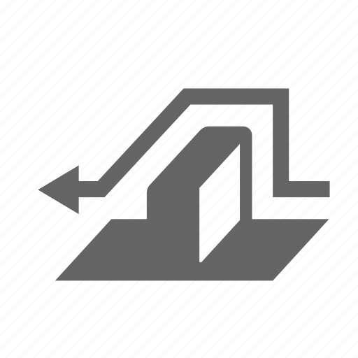 around, barrier, block, let, obstacle, passability, wall icon