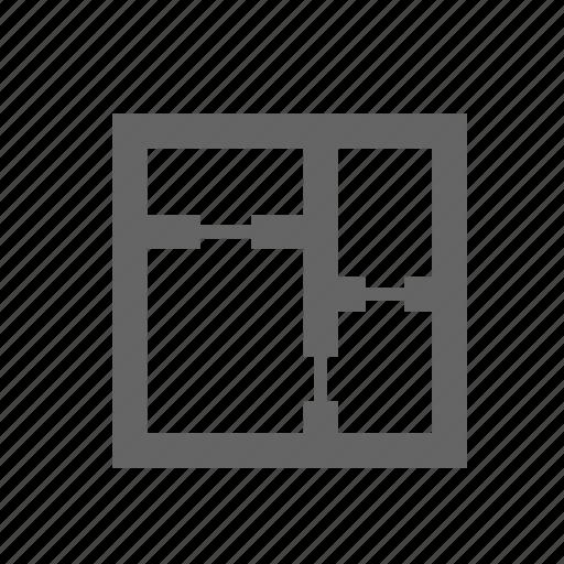 corner, home, house, plan, room, scheme, wall icon