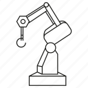 automation, control, industry, machine, manufacturing, robot, robotic arm icon