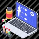 ehealth, medical help, medical website, online health, online medical service icon