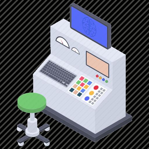 brain monitoring, brain scanning, diagnostic machine, medical imaging, medical technology, mri icon