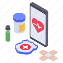 health app, healthcare app, medical app, mobile app, online medication icon