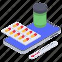 health app, healthcare app, medical app, mobile app, online medication icon