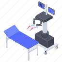 health technology, medical robot, medical tech, remote surgery, surgical robot icon