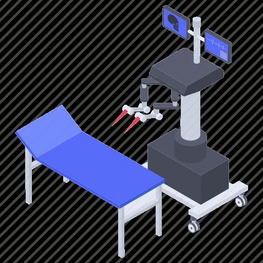 health technology, medical robot, medical tech, remote surgery, surgical robot icon