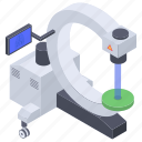 fluorography, interventional radiology, radiology, radioscopy, x-ray machine icon
