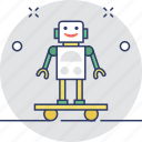 automator, futuristic, machine, robot, science icon