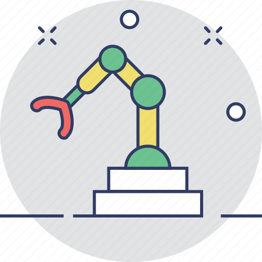 industrial, industrial arm, manufacturing, robotic, technology icon
