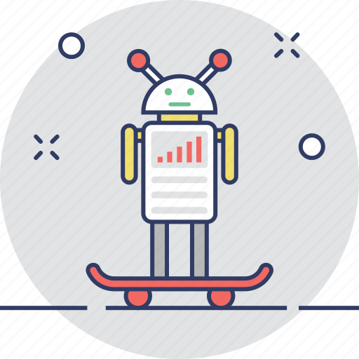 Droid, futuristic, science, skateboard, technology icon - Download on Iconfinder
