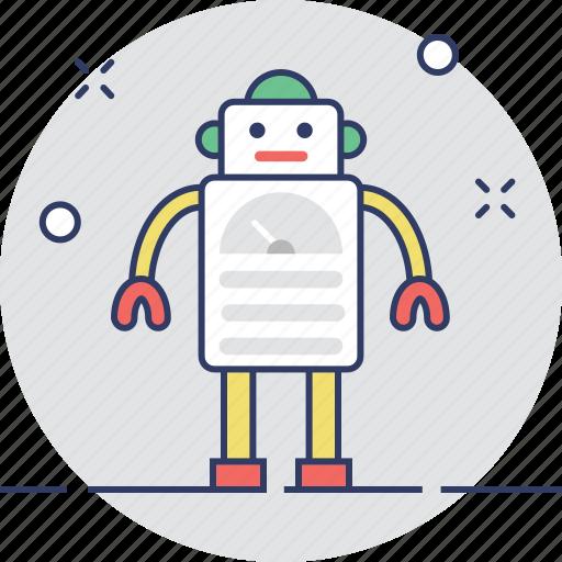 automator, futuristic, machine, robot, science icon
