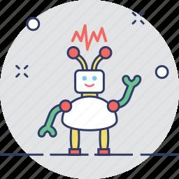 cyborg, machine, robot, robotic, technology icon