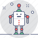 character, machine, robot, robotic, toy icon