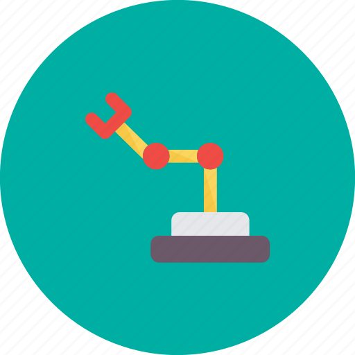 Industrial, industrial arm, manufacturing, robotic, technology icon - Download on Iconfinder