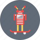 droid, futuristic, science, skateboard, technology icon