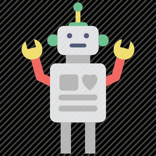 character, machine, robot, robotic, toy icon