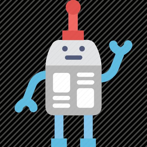 bionic, character, robot, robotics, technology icon