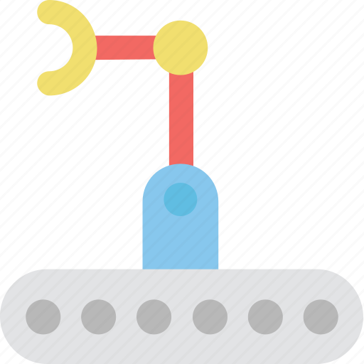 Bulldozer, crawler, industrial arm, mechanical, technology icon - Download on Iconfinder