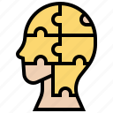 intelligence, jigsaw, puzzle, quotient, solve icon