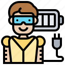 batter, plugin, power, rechargeable, robot icon