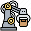 automatic, industrial, process, robots, technology icon