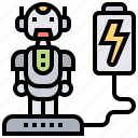 battery, humanoid, power, rechargeable, robot icon