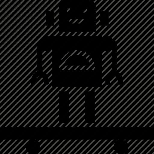 droid, futuristic, science, skateboard, technology icon