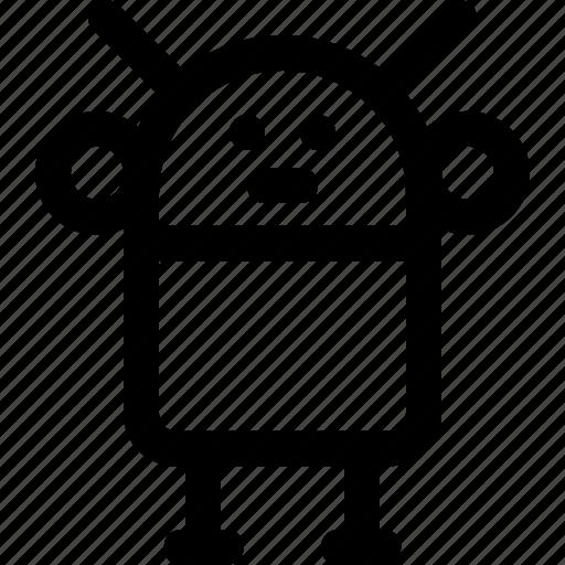 android, cyborg, metallic, robot man, toy icon