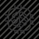 artificial, brain, intelligence, processor icon