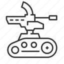 army, military, robot, weapon icon