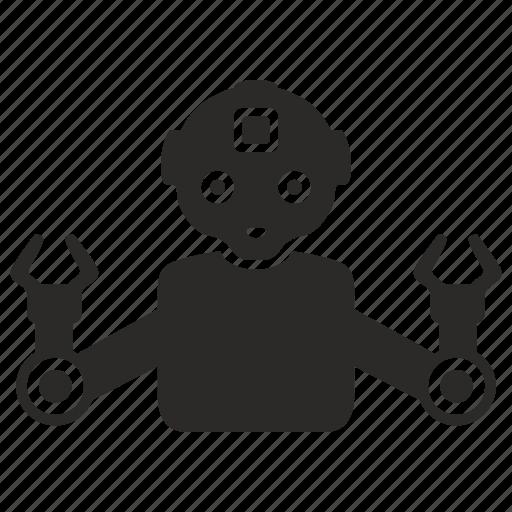 android, industrial, manipulator, mashine, robot icon