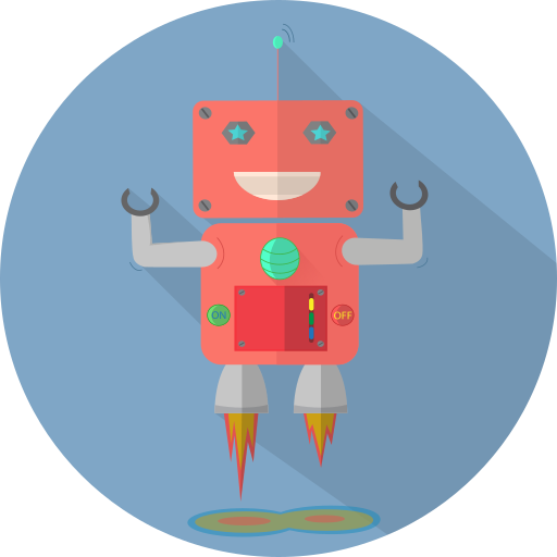 Android, fun robot, launch, mascot, mechanical, metal, robot icon - Free download