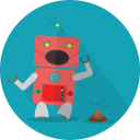 android, mascot, mechanical, metal, robot, robot expression, robotic, smell, space, technology icon