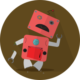 android, broken, mascot, mechanical, metal, robot, robot expression, robotic, space, technology, turn off icon
