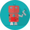 space, mechanical, metal, robot, broken, robot expression, robotic, android, technology, turn off, mascot