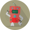 android, fun robot, mascot, mechanical, metal, robot, robot expression, robotic, space, technology icon
